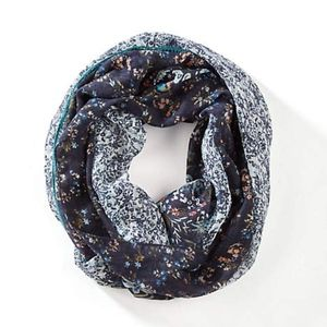 J. Jill - Gorgeous Mixed-Floral Infinity Scarf NWT